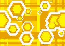 Geometric Texture Hexagons Stock Images