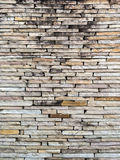 Geometric texture of an old and dirty stone wall. Vertical detail texture Stock Photos