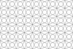 Geometric texture. Seamless geometric texture- black on white Stock Photography