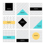 Geometric Texture Set 005 Stock Photography