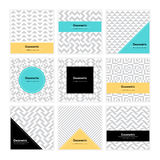 Geometric Texture Set 004 Stock Photos