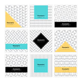 Geometric Texture Set 001 Royalty Free Stock Images