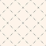 Geometric texture with small shapes, dots, lines, delicate diagonal grid. Universal minimalist vector seamless pattern. Subtle geometric texture with small Stock Images