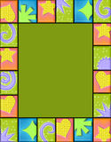 Geometric tile frame Stock Photo