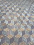 Geometric tile illusion honeycombs pattern