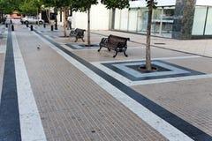 Geometric Tile Sidewalk Santiago do Chile Royalty Free Stock Image