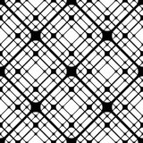 Geometric Tiles with Rounded Rhombuses Vector seamless pattern royalty free illustration
