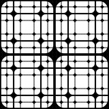 Geometric Tiles with Rounded Squares Vector seamless pattern Royalty Free Stock Photo