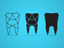 Geometric tooth. Set of geometric shapes, vector Royalty Free Stock Images