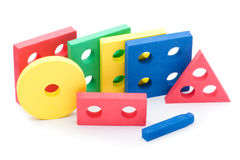 Geometric toy for children on white Stock Photos