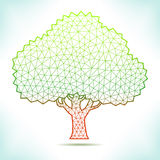 Geometric tree. For calendar, catalog, flyer, card or other Stock Images