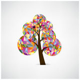 Geometric tree symbol. Royalty Free Stock Images