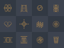 Geometric trendy hipster Icons Royalty Free Stock Photography