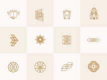 Geometric trendy hipster Icons Stock Photo