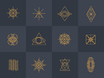 Geometric trendy hipster Icons Stock Image
