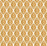 Geometric leaves vector seamless pattern. Abstract vector texture. Leaf background. Geometric trendy leaves vector seamless pattern. Abstract symmetry vector stock illustration