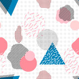 Geometric trendy 80s retro seamless pattern. Funky hipster texture for phone case, poster, textile, art print Royalty Free Stock Image