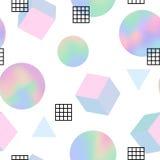 Geometric trendy 80s retro seamless pattern Royalty Free Stock Photography