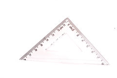 Geometric triangle. On a white background close up Royalty Free Stock Photos