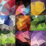 Geometric triangle big set Royalty Free Stock Image