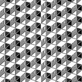 Geometric triangle box illusion pattern seamless Royalty Free Stock Photo