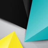 Geometric triangle bright background Stock Photo