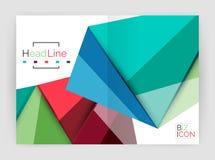 Geometric triangle business brochure template. Vector triangle business brochure template Stock Image