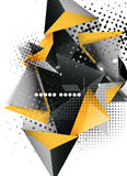 Geometric triangle 3d design, abstract background Stock Photo
