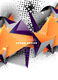 Geometric triangle 3d design, abstract background Royalty Free Stock Photo