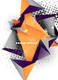 Geometric triangle 3d design, abstract background Stock Photos