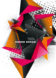 Geometric triangle 3d design, abstract background Royalty Free Stock Photos