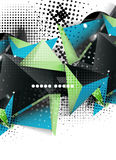 Geometric triangle 3d design, abstract background Royalty Free Stock Photography