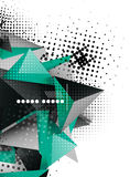 Geometric triangle 3d design, abstract background Royalty Free Stock Image
