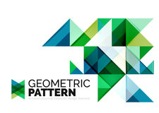 Geometric triangle mosaic pattern element isolated Stock Photos
