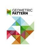 Geometric triangle mosaic pattern element  Royalty Free Stock Photo