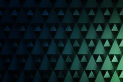 Geometric triangle pattern in dark blue and green colors. stock illustration