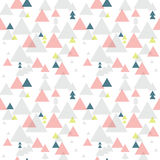 Geometric triangle seamless pattern Stock Photos