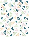 Geometric triangle seamless pattern Stock Photo