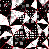 Geometric triangles pattern from polka dots Royalty Free Stock Photo