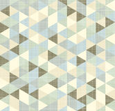 Geometric triangles pattern with stripes Stock Images