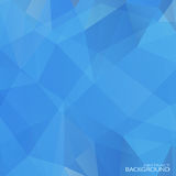 Geometric Triangular Abstract Blue Colors Royalty Free Stock Image