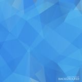 Geometric Triangular Abstract Blue Colors Stock Photo