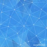 Geometric Triangular Abstract Blue Colors Stock Images