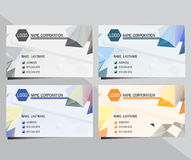 Geometric triangular business card Stock Images