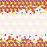 Geometric triangular pattern Royalty Free Stock Photo