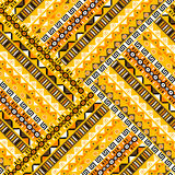 Geometric tribal pattern Stock Images