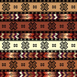 Geometric tribal pattern in aztecs style Stock Photo
