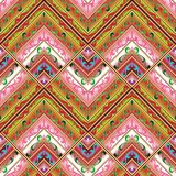 Geometric tribe seamless pattern. Colorful ethnic background. Geometric tribe seamless pattern. Colorful ethnic background wallpaper with bright floral rhombus Royalty Free Stock Photos