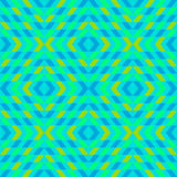 Geometric turquoise ornament Stock Images