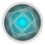 Geometric Twisted Organic Wire Frame Shape Vector Royalty Free Stock Photo